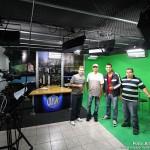 """Equipe do Programa """"Metrô Esportivo"""", TV Metropolitano, com o lendário repórter fotográfico, Carlos Silva, do Ex-Diário de Natal."""