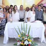 Marcos e Mônica, recebe familiares após a celebração da missa em Ação de Graças, a Boda de Prata, na capela São Pedro,Base Naval de Natal.
