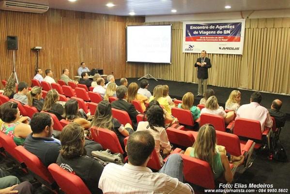 """Paralelo ao Fórum do RN, aconteceu o """" Encontro de Agentes de Viagens do RN"""", realizado no auditório Fernando Paiva."""