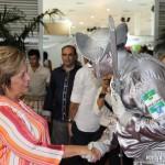 A governadora, Rosalba Ciarlini, prestigiou a Fiart-2014, neste sábado (1).