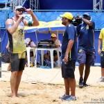 O jogador Bruno Schmidt, elogiou o comportamento da torcida potiguar, após a vitória nas semifinais do 7º Circuito de Vôlei de Praia, realizado neste sábado (8).