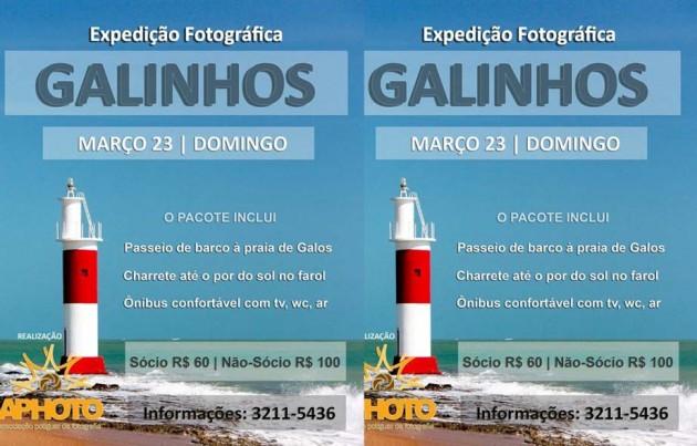 Expedição Aphoto: O paraíso de Galinhos será invadido pelos aventureiros fotógrafos potiguares, no próximo dia 23 de março (domingo).