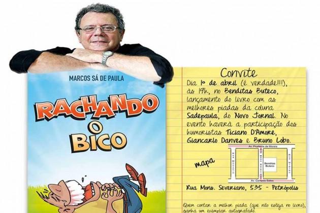 """O lançamento do livro """"Rachando o Bico"""", será dia 1º de abril, no Benditas Buteco, no bairro de Petrópolis, Natal."""