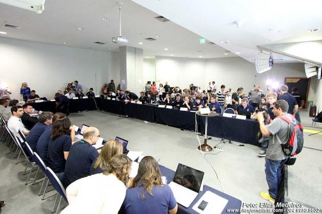 A Imprensa não teve acesso a reunião de trabalho da Fifa e do Col, na Arena das Dunas.