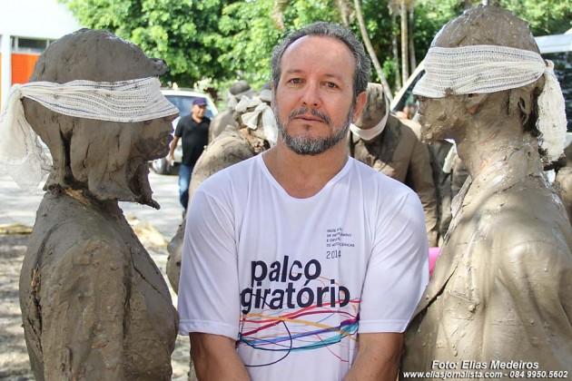 Nilton Marcos, coordenador do palco Giratório do RN, especialista em artes cênicas do SESC.