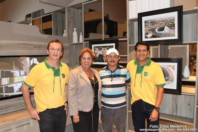 Carlo Guglielmi, a governadora Rosalba Ciarlini, Canindé Soares e Carlos Souza.
