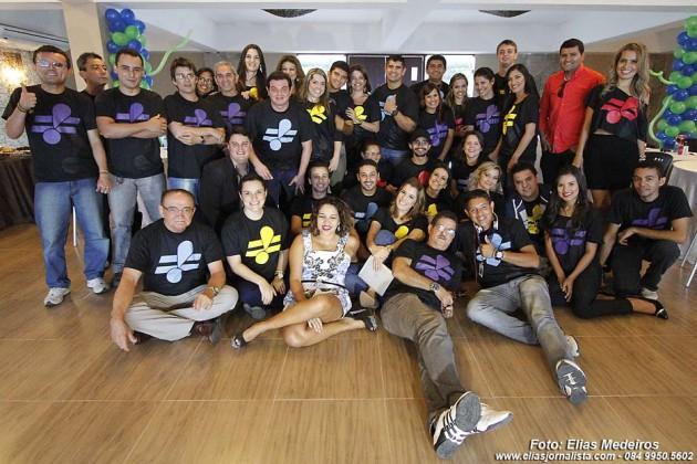 Rede TV RN reúne funcionários no Hotel Vila do Mar.