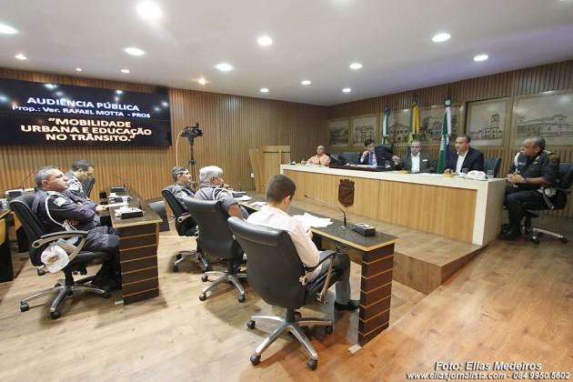 O vereador Rafael Motta (PROS), foi propositor da audiência pública sobre sobre Mobilidade urbana e educação no trânsito.