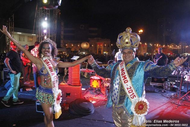 Rubens Carlos e Margoth Lima são os Rei Momo e Rainha do Carnaval de natal 2015.