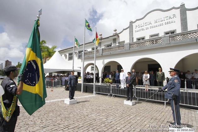 O governador Robinson Faria, preside cerimônia de assunção de Comando do Comandante da PM do RN.