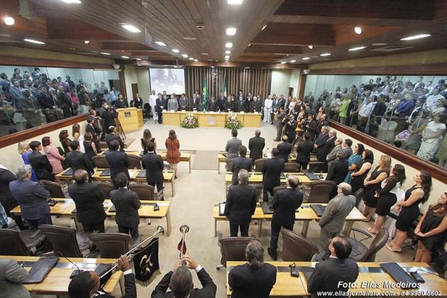Deputados Estaduais tomam posse na Assembleia Legislativa do RN.