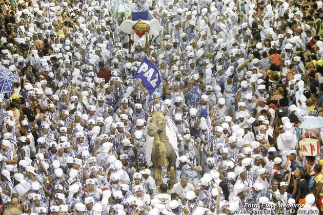 Afoxé Filhos de Gandhy símbolo da paz do Carnaval de Salvador..