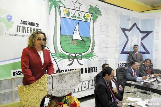 Na sessão plenária desta quarta-feira (29), na cidade de Angicos, dentro da programação da Assembleia Itinerante