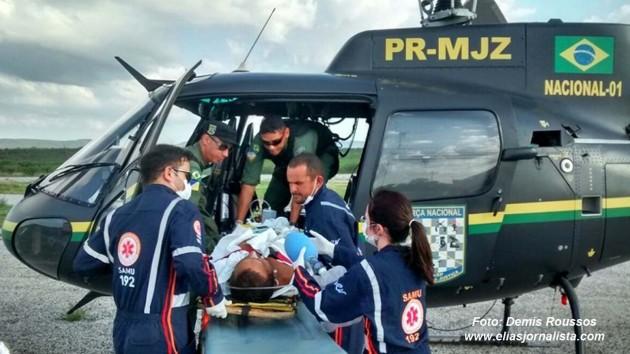 Helicóptero da Força Nacional colabora com ações de Saúde no RN .