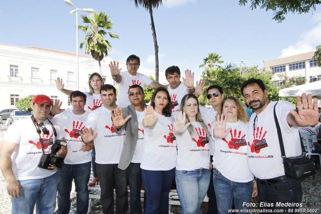 Jornalista se reúnem para finalizar a campanha #chegadeviolênciaRN.