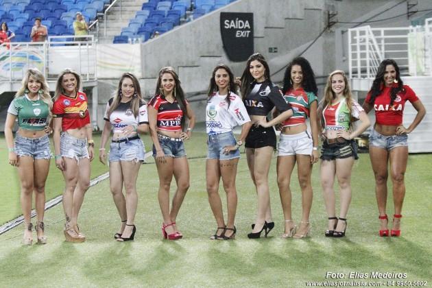 Candidatas concorrentes a Musa do Futebol Potiguar 2015.