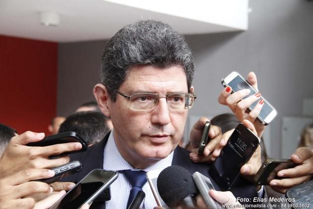 O ministro da Fazenda, Joaquim Levy, participa do Encontro dos Governadores do Nordeste.