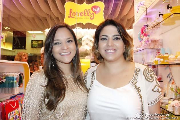 As empresárias Alana e Veluska Leão receberam imprensa e convidados para inauguração da Lovelly Fest.