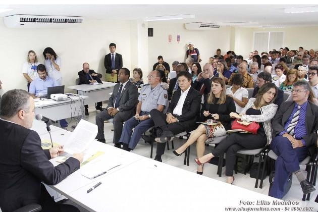Governador participa da abertura do I Workshop de Segurança Pública.