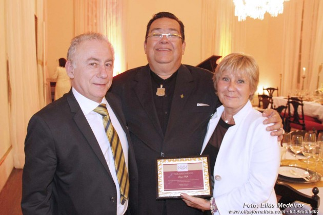 O italiano Sérgio Boffa, proprietário do Praia Bonita Resort foi homenageado com um jantar de gala no Salão Nobre do Teatro Alberto Maranhão