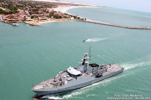 """Navio-Escola """"Brasil"""" atraca no porto de Natal e será aberto à visitação pública dias 1º e 2 de agosto de 2015."""