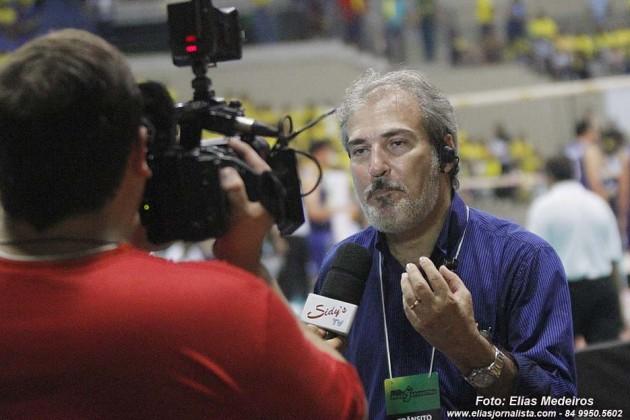 O presidente da Federação Norte-riograndense de Vôlei, Igor Ribeiro Dantas, estava eufórico com a participação da torcida potiguar