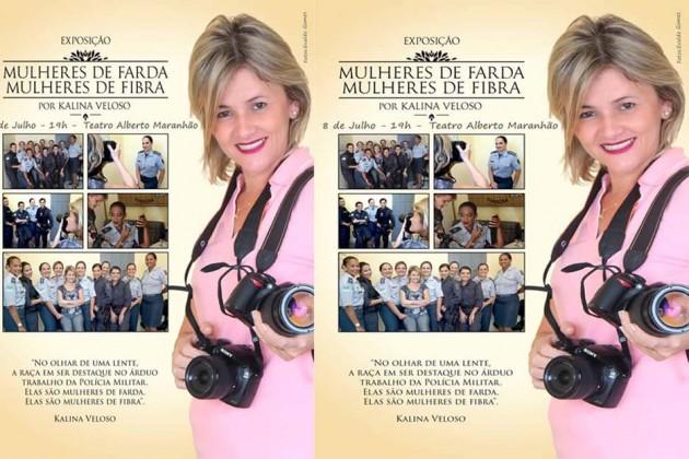 Exposição fotográfica homenageia mulheres da polícia militar do RN .