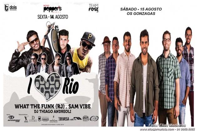 """Pepper's Hall sexta: """"I Love Rio"""" - Sábado:  Os Gonzagas comanda festa temática."""