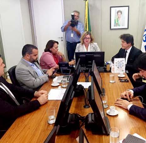 Em audiência no Ministério da Saúde, governador destaca regionalização e hospital Terciário (Foto: Estela Dantas).