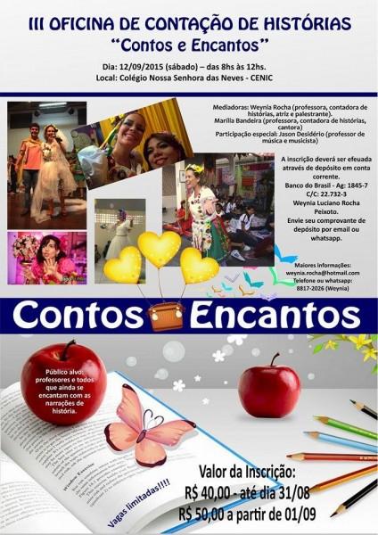 Curso de contação de histórias com a professora Weynia Rocha