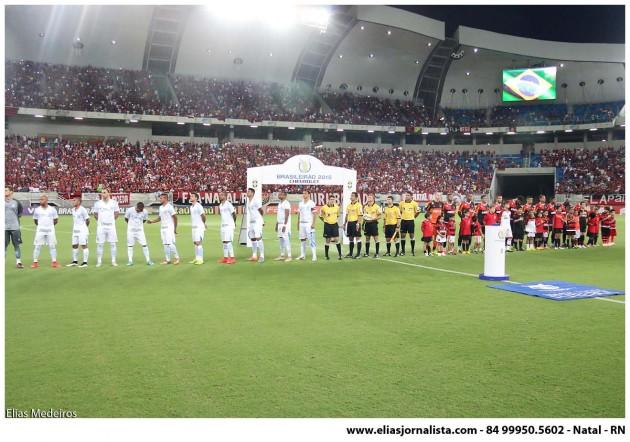 Flamengo e Avaí/SC jogaram pela série A do Campeonato Brasileiro na Arena das Dunas, em Natal.
