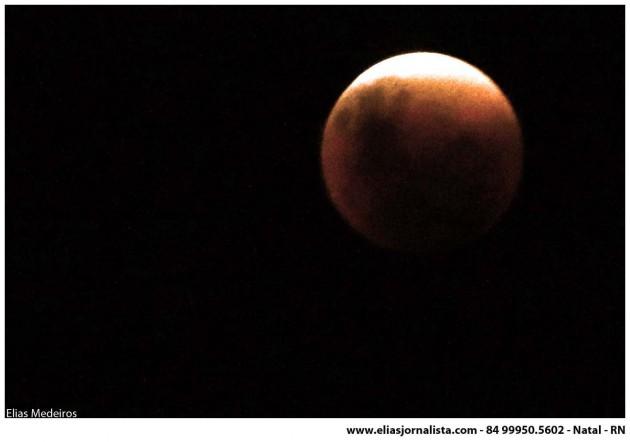 Previsão para o eclipse total lunar.