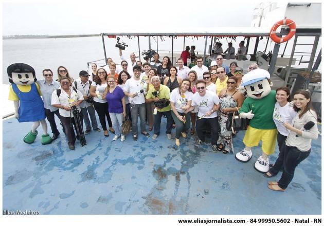 Setembro Cidadão RN foi lançado com passeio de barco no Potengi.