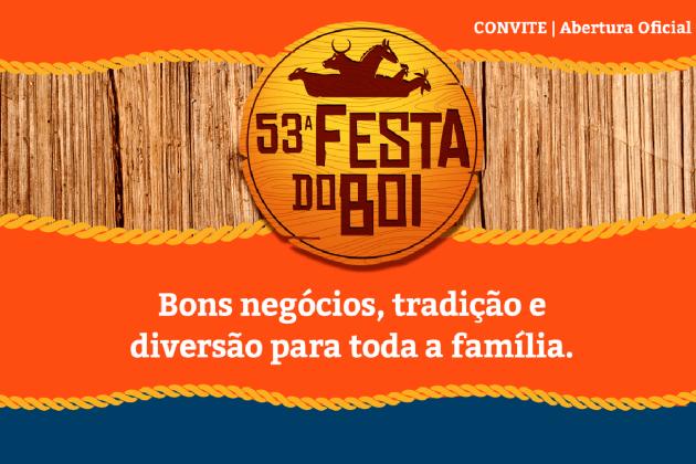 A 53ª Festa do Boi será aberta oficialmente neste sábado (10), às 17h, no Parque Aristófanes Fernandes, em Parnamirim.