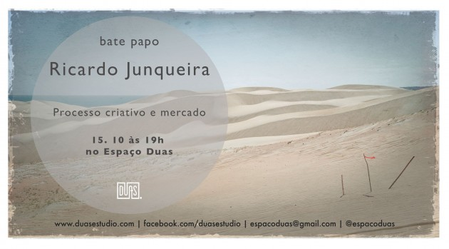 15 de outubro: Bate papo Ricardo Junqueira + Curso Documentarismo Expandido + Bazar