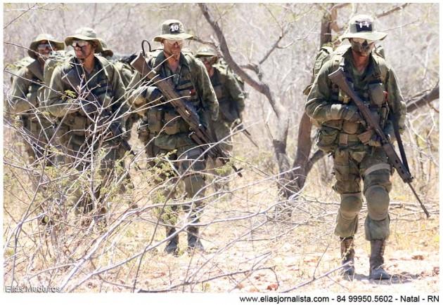 Tropa de Elite da Marinha realiza treinamento na Caatinga do RN.