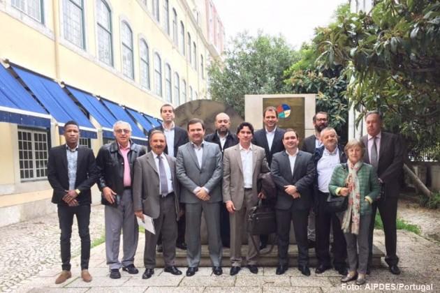 Os deputados George Soares (PR), Galeno Torquato (PSD) e Gustavo Fernandes (PMDB) visitaram a Universidade Lusófona em Lisboa, Portugal.