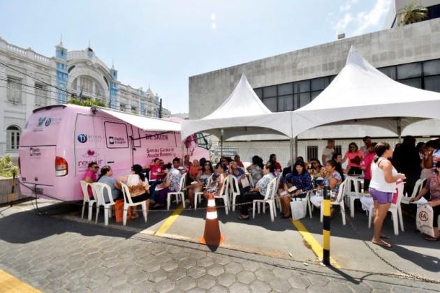 Resultados de mamografias são entregues na Assembleia Cidadã. (Foto: Eduardo Maia).