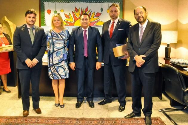 Presidente da Assembleia recebe embaixadores da Polônia.