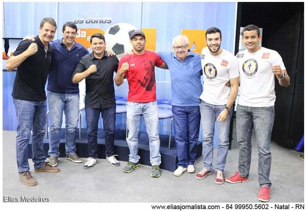 O programa os Donos da Bola RN recebeu o lutador de MMA Renan Barão.