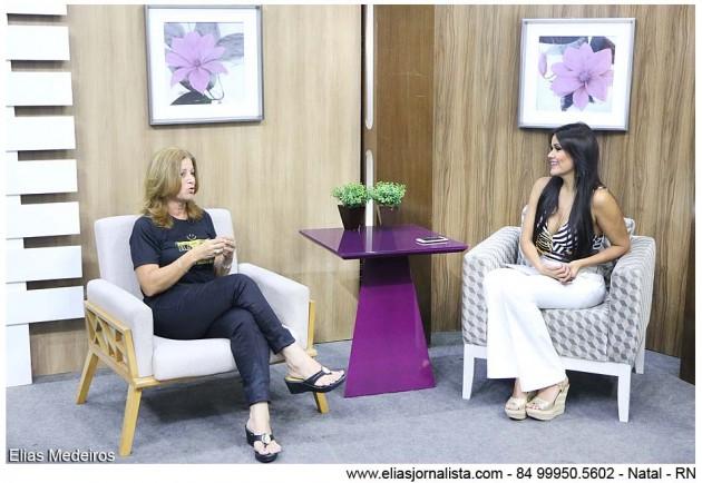 O Band Mulher com a jornalista Juliana Celli recebeu Rosaly Corteza, presidente da ATMO.