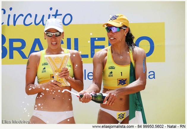 Juliana e Taiana conquistam Open de Natal do Circuito Brasileiro de Vôlei de Praia.