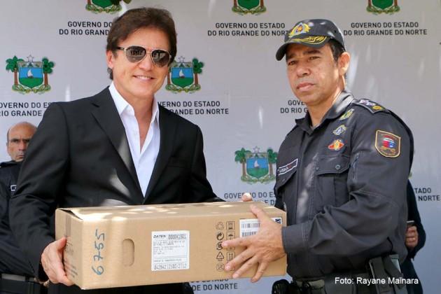 Governo do RN entrega mais de R$ 9 milhões em carros e equipamentos para a segurança pública.