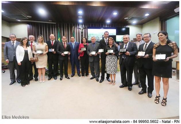 Jornalistas potiguares recebem homenagem da Assembleia Legislativa.