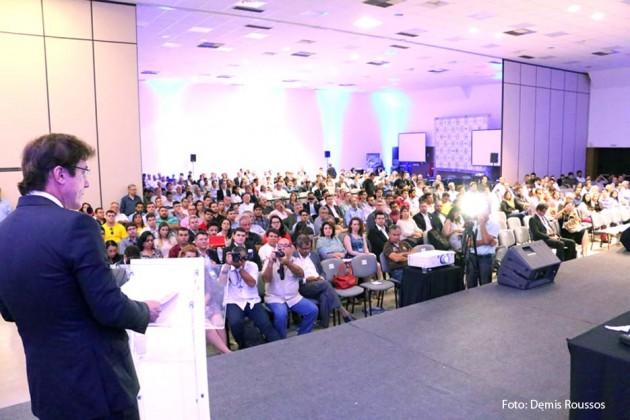 Governador destaca pioneirismo do RN durante abertura do Fórum Nacional Eólico e Solarinvest 2016.