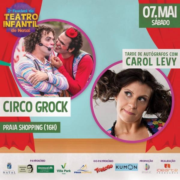 Final de semana com shows musicais e Festival de Teatro Infantil no Praia Shopping.