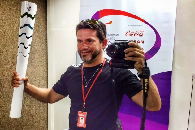 Ney Douglas Marques, será o representante da fotografia potiguar no revezamento da tocha olímpica em Natal. (Foto: Humberto Sales).
