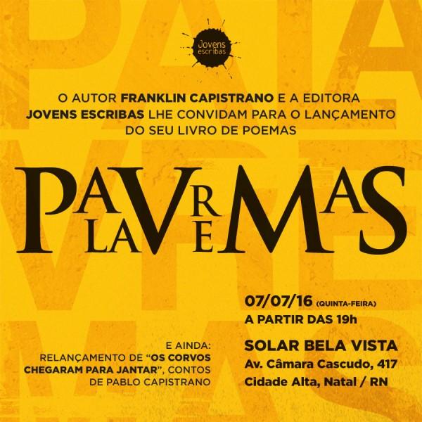 """Presidente da CMN lança livro de poemas """"Palavremas""""."""
