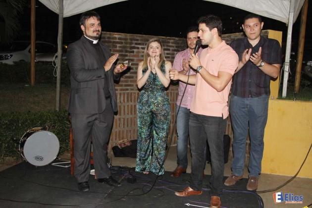 O deputado Federal Rafael Motta, o parlamentar elogiou a iniciativa do padre Francisco Motta, que tem importantes ações sociais em Natal e no bairro do Alecrim.