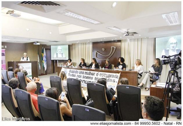 Mecanismos para coibir cultura do estupro são discutidos na Assembleia Legislativa.